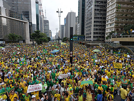 Demonstrationen in Sao Paulo