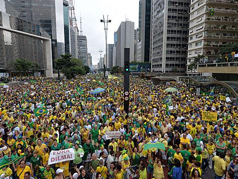 Demonstrationen in Sao Paulo