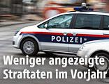 Polizeiauto im Einsatz
