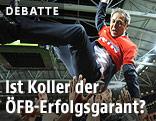 Spieler feiern Marcel Koller