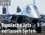 Russische Kampfflugzeuge beim Start