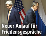 John Kerry and Russian Foreign Minister Sergey Lawrow