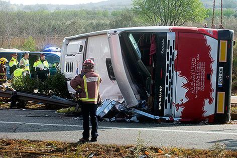 Verunfallter Bus