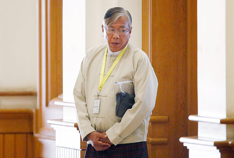 Htin Kyaw, neuer Präsident Myanmars