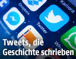 Handydisplay zeigt die Twitter-APP