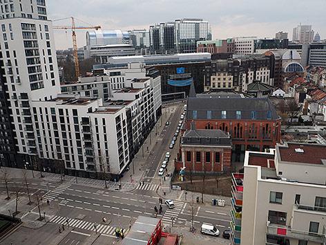 Leere Straßen in Brüssel
