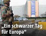 Soldat im Zentrum Brüssels
