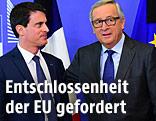 EU-Kommissionspräsident Jean-Claude Juncker und Fankreichs Premier Manuel Valls