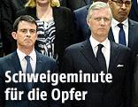 Premierminister Manuel Valls und König Philippe von Belgium