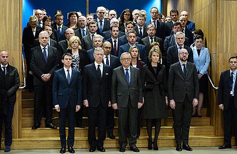 Schweigeminute im EU-Parlament