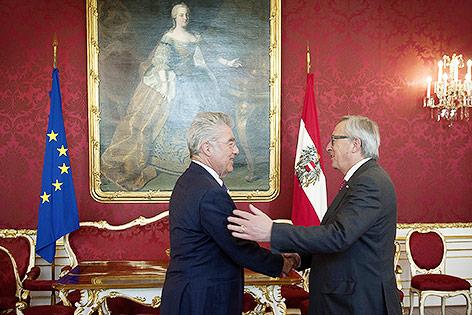 Heinz Fischer und EU-Kommissionspräsident Jean-Claude Juncker