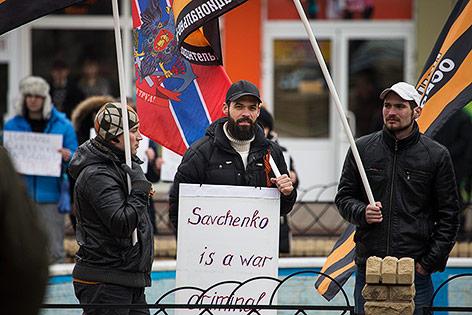 Prorussische Demonstranten