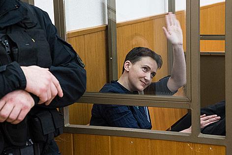 Sawtschenko im Gerichtssaal