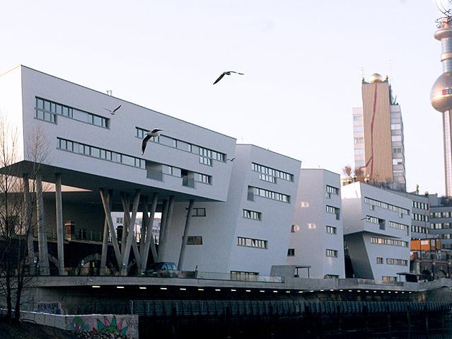 Bauwerk am Donaukanal von Zaha Hadid