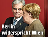 Bundeskanzler Werner Faymann und Bundeskanzlerin Angela Merkel