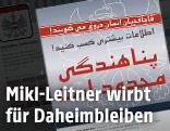 Twitter-Screenshot eines Plakates des Innenministeriums