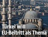 Bosporus mit Moschee im Vordergrund
