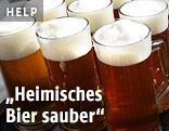 Gefüllte Bierkrüge