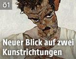Egon Schiele: Selbstbildnis mit gesenktem Kopf, 1912