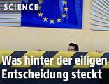Eingangsbereich der Europäischen Kommission in Brüssel