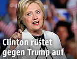 Die demokratische US-Präsidentschaftskandidatin Hillary Clinton