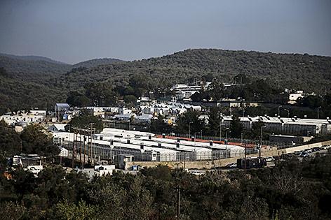 Flüchtlings-Registrierungszentrum auf der Insel Lesbos