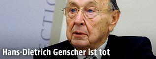 Deutscher Ex-Außenminister Hans-Dietrich Genscher 2012 in Wien