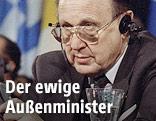 Deutscher Aussenminister Hans-Dietrich Genscher 1992