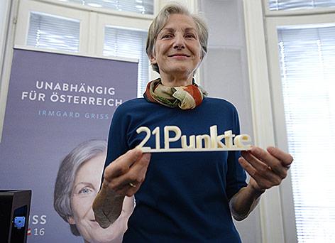 Präsidentschaftskandidatin Irmgard Griss