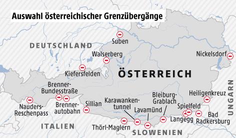 Grenzübergänge österreich Deutschland
