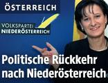 Die damalige NÖ-ÖVP-Landesgeschäftsführerin Johanna Mikl-Leitner 1998