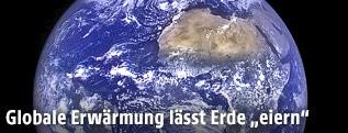 Die Erde vom Weltall aus gesehen