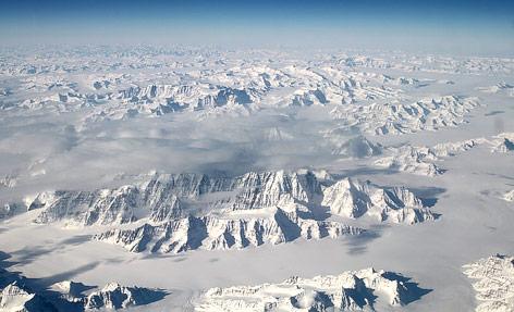 Nordöstliche Küstenlinie von Grönland