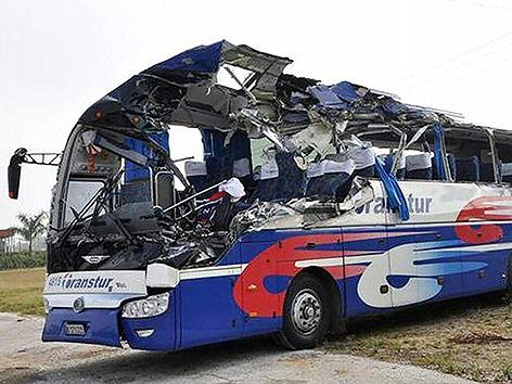 Busunfall auf Kuba