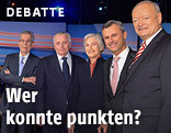 Dr. Alexander Van der Bellen, Rudolf Hundstorfer, Dr. Irmgard Griss, Ing. Norbert Hofer, Dr. Andreas Khol