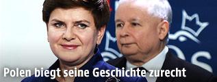 Premierministerin Beata Szydlo und Jaroslaw Kaczynski (PiS)