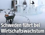 Aufbau einer Esbar in einem neuen Hotel in Schweden