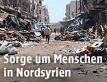 Beschädigter Markt in Nordsyrien