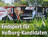 Wahlplakate der österreichischen Präsidentschaftskandidaten