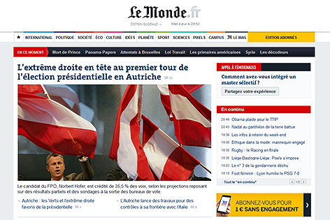Screenshot lemonde.fr