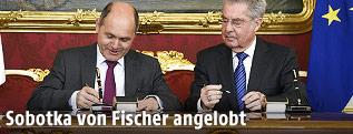 Wolfgang Sobotka und Heinz Fischer
