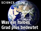 Die Erde aus dem Weltall aufgenommen