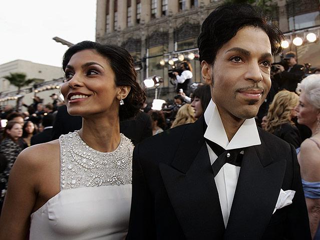 Prince mit ehefrau Manuela Testolini bei den 77. Academy Awards 2005