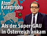 ORF-Moderator Günter Schmidt 1989 im ORF-Studio