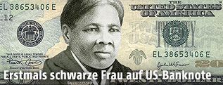 20-US-Dollar-Note mit Harriet Tubman