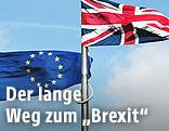 EU-Flagge, Großbritannien-Flagge