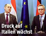 Der österreichische Innenminister Wolfgang Sobotka und der deutsche Innenminister Thomas de Maiziere