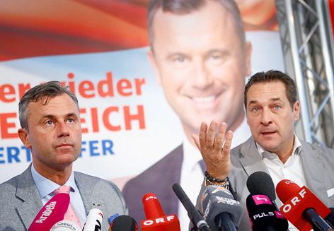 FPÖ-Präsidentschaftskandidat Norbert Hofer und Heinz-Christian Strache