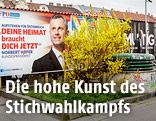 Wahlplakate von Norbert Hofer und Alexander Van der Bellen