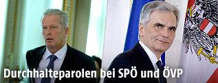 Reinhold Mitterlehner (ÖVP) und BK Werner Faymann (SPÖ)